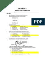 Spm Paper 1 2003 2008 Body Coordination Answer