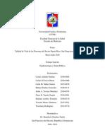 Calidad de Vida de las Personas del Sector Puerto Rico, San Francisco de Macorís, Período Mayo-Julio 2018