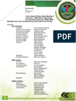 RESOLUTION OF SSG G11 SENATORS AND COUNCIL OFFICERS