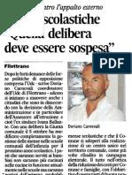 20111129 CA - Mense Scolastiche Quella Delibera Deve Essere Sospesa