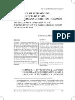 A LIBERDADE DE EXPRESSÃO na jurisprudência da CIDH.pdf