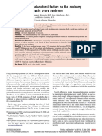 Influence of sociocultural factors on the ovulatory status of polycystic ovary syndrome