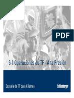 6-1 Operaciones de TF - Alta Presión