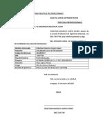 CARTA DE presentacion de practicas