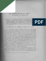 La voluntad de la vida / Fernandez, Francisco F.