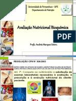 Avaliação Bioquímica Nutricional-2019.1