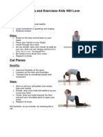 Yoga Postures and Exercises Kids