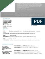 Curriculum Francisco