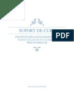 Suport de curs _ EFICIENTIZAREA MANAGEMENTULUI INSTITUȚIILOR DE ÎNVĂȚĂMÂNT PREUNIVERSITAR