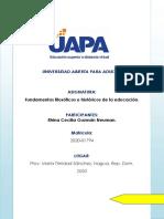 Tarea I Fundamentos Fisiologicos e Historicos de La Educacion- RG.