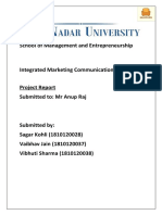 Integrated Marketing Communication - Project Report