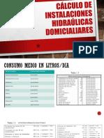 Calculo de instalaciones hidraulicas domicialiares