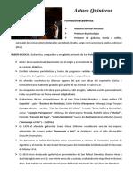 Arturo Quintero curriculum