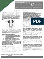 Micturating Cysto-Urethrogram (MCU)