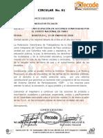 CIRCULAR  No. 01 convocatoria movilización 21 E