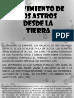 movimiento de los astros desde la tierra.pptx