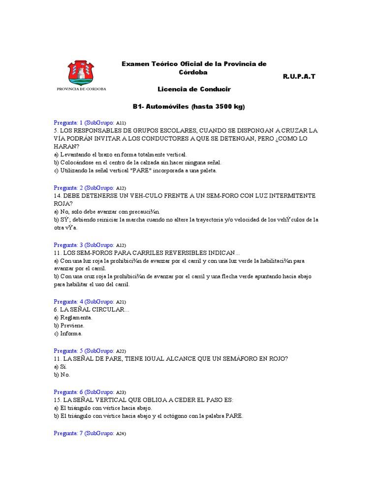 Examen te rico oficial de la provincia de c rdoba for Examen para plazas docentes 2017