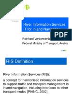 RIS-Telematic for Inland Navigation ZKR Paris Dez 2003