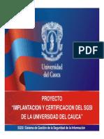 5 La Seguridad de la Información en Instituciones Educativas.  Andrés de los Reyes G