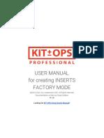 KIT OPS FACTORY Manual