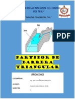 PARTIDOR DE BARRERA TRIANGULAR