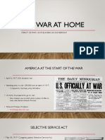 us history ww1 war on the homefront