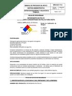 FICHA DE SEGURIDAD JABON DERSA