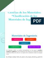 Clase 2. Clasificación de Los Materiales de Ingeniería