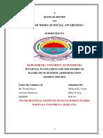 Role of Media in Social Awareness