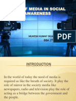 Role Of Media In Social Awareness