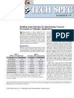 Bedding Sand Selection for Interlocking Concrete Pavements in Vehicular Applications