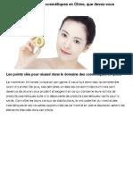 Exporter ses produits cosmétiques en Chine_que devez-vous comprendre_Marketing Chine_Marketin