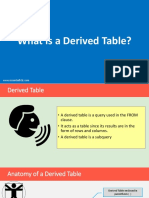 dereived table