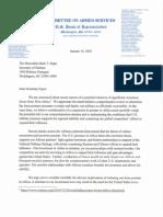 Esper Letter on AFRICOM Withdrawal