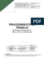 PT-SGI-20 MOVIMIENTO DE EQUIPO EN PATIO Y TALLER
