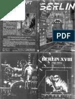 Berlin XVIII - Livre de règles 3ed