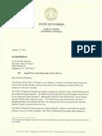 Florida's Attorney General letter to Gov. DeSantis
