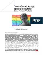 The Matthew Shepard Murder for Miles Mathis.
