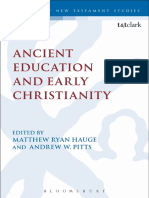 (The Library of New Testament Studies) Matthew Ryan Hauge, Andrew W. Pitts - Ancient Education and Early Christianity-T&T Clark (2016)