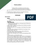 Biblgrafia practica Juridica 3 y Criminologia LEBRON