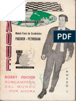 JAQUE - ANEXO I - Bobby Fischer Subcampeón del Mundo