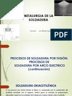 6- METALURGIA DE LA SOLDADURA- PROCESOS DE SOLDADURA (continuación)