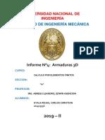 informe 4- Armadura 3D