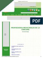 CURCUMA-PROPIEDADES MEDICINALES