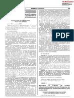 RD 019-2020-MINEDU - Aprueban el Listado de locales educativos beneficiarios del Programa de Mantenimiento de locales educativos para el año 2020