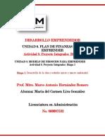 DESARROLLO EMPRENDEDOR proyecto integrador 1