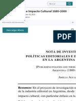 Política Editorial e Impacto Cultural 1880-2000   Publicación   Propiedad intelectual