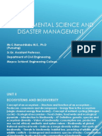 Environmental science and disaster management