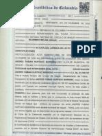 Declaración de renta Alcalde Andrés Fabián Hurtado