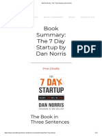 Book Summary_ The 7 Day Startup by Dan Norris